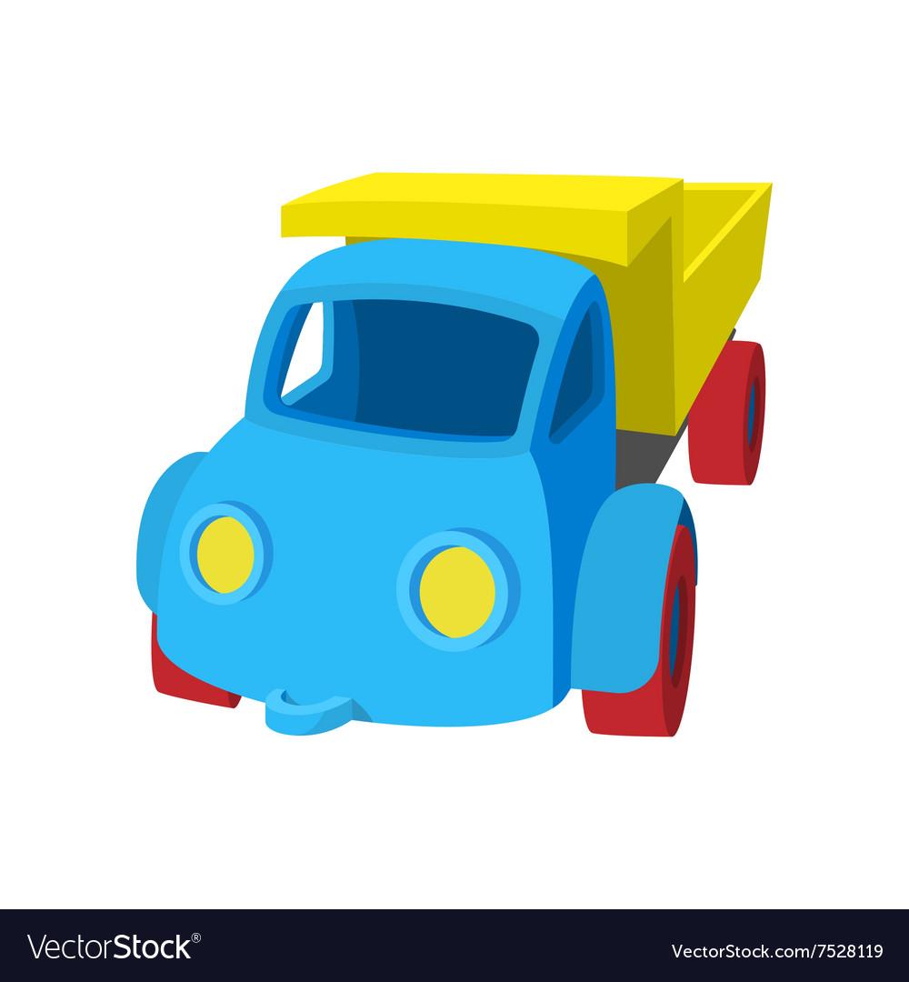 Toy truck cartoon icon