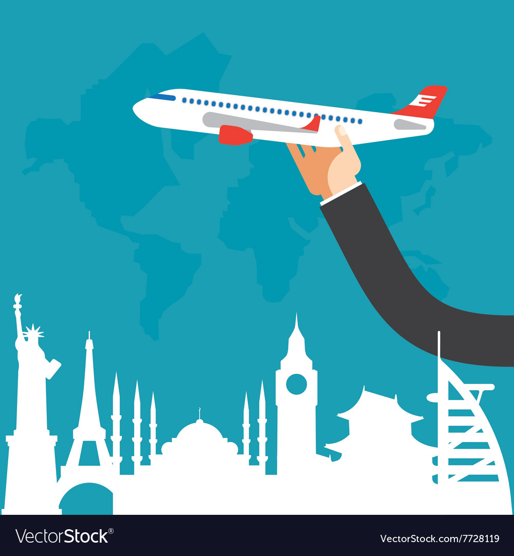 Travel by airplane vacation adventure