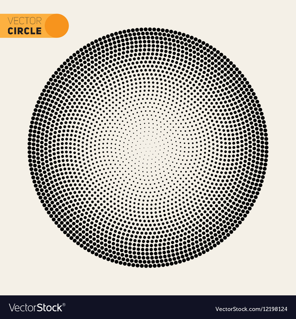 Black And White Fibonacci Spiral Circle vector image