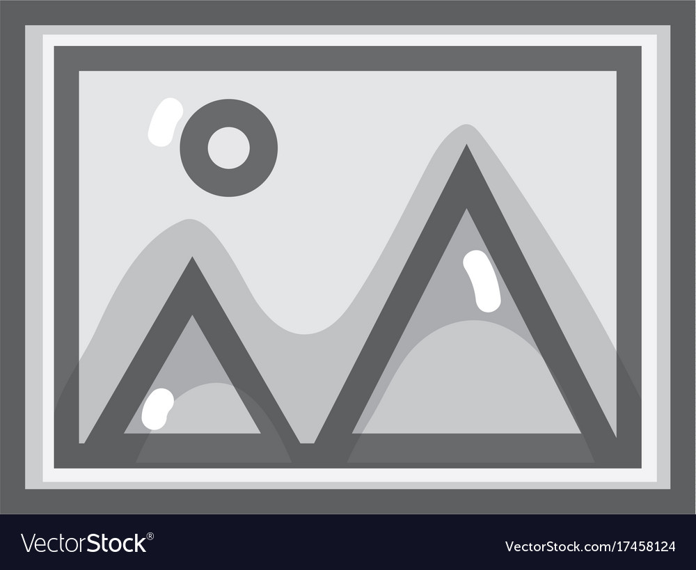 Grayscale nice frame picture art design vector image on VectorStock