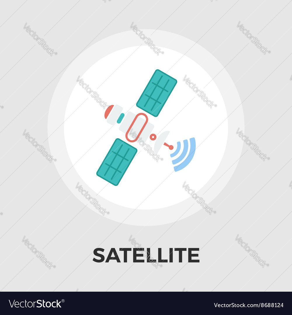 Satellite flat icon