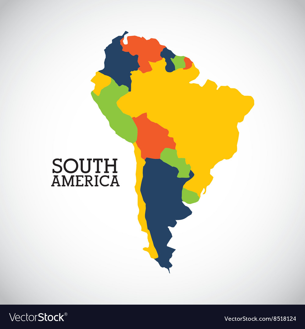 South america design vector image