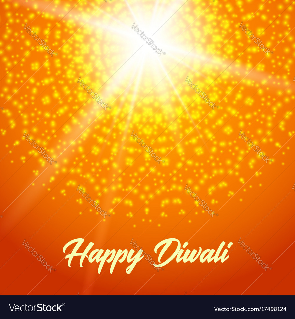 Sunny Rangoli Happy Diwali Greeting Card Vector Image