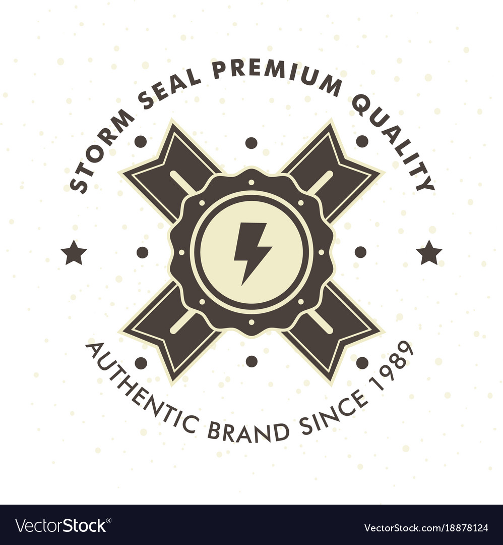 Vintage hipster logo design template vector image on VectorStock