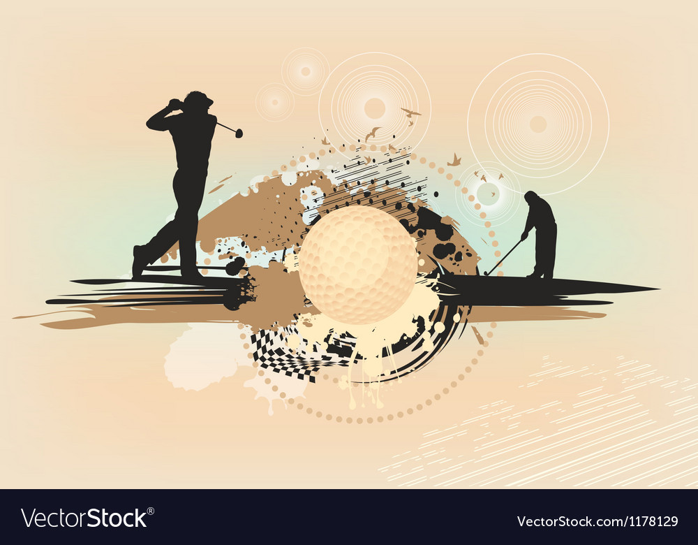 Abstract brown golf background vector image