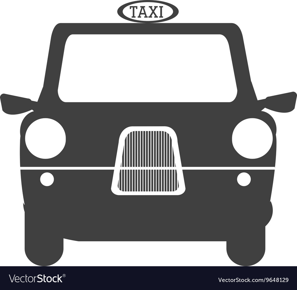 Black british cab graphic