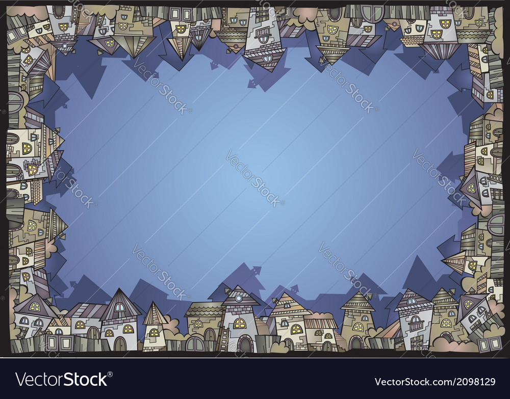 Cartoon construction isolated town border vector image