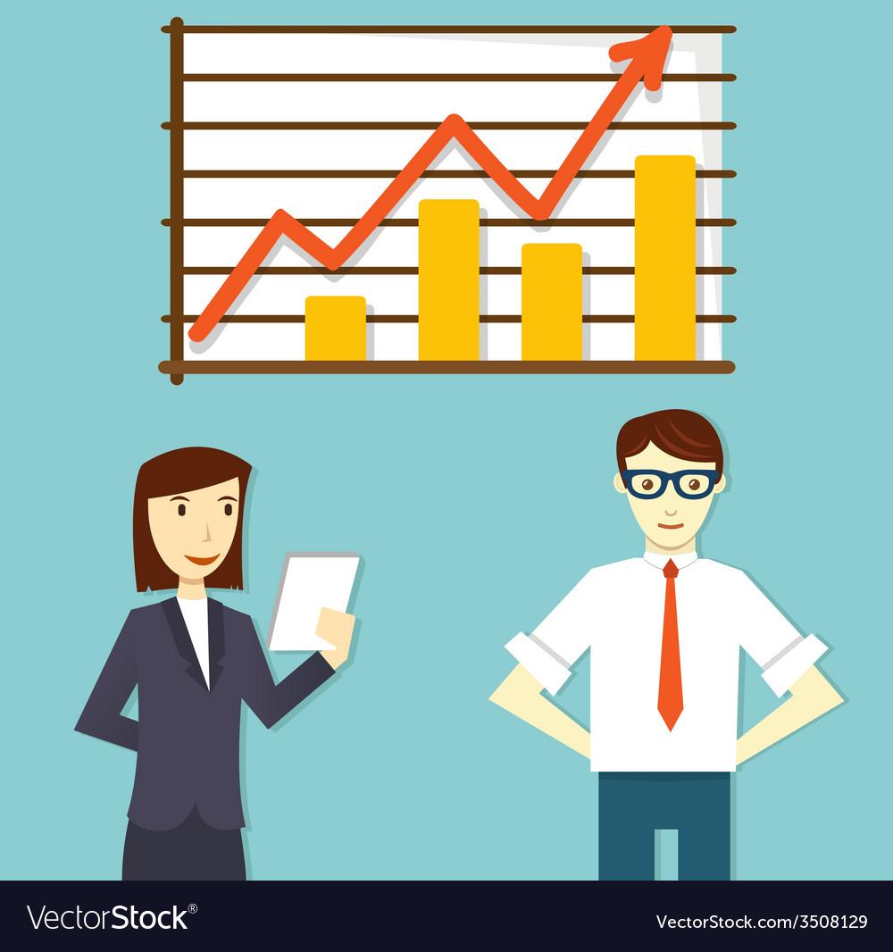 Concept of business plan development vector image
