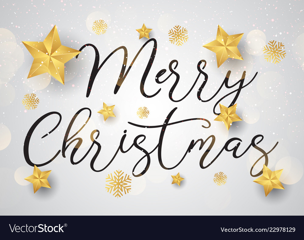 Decorative christmas text background with gold