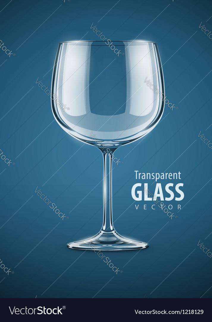 Glass goblet for wine drink vector image