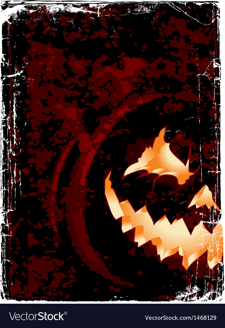 Halloween grunge poster with space for you design