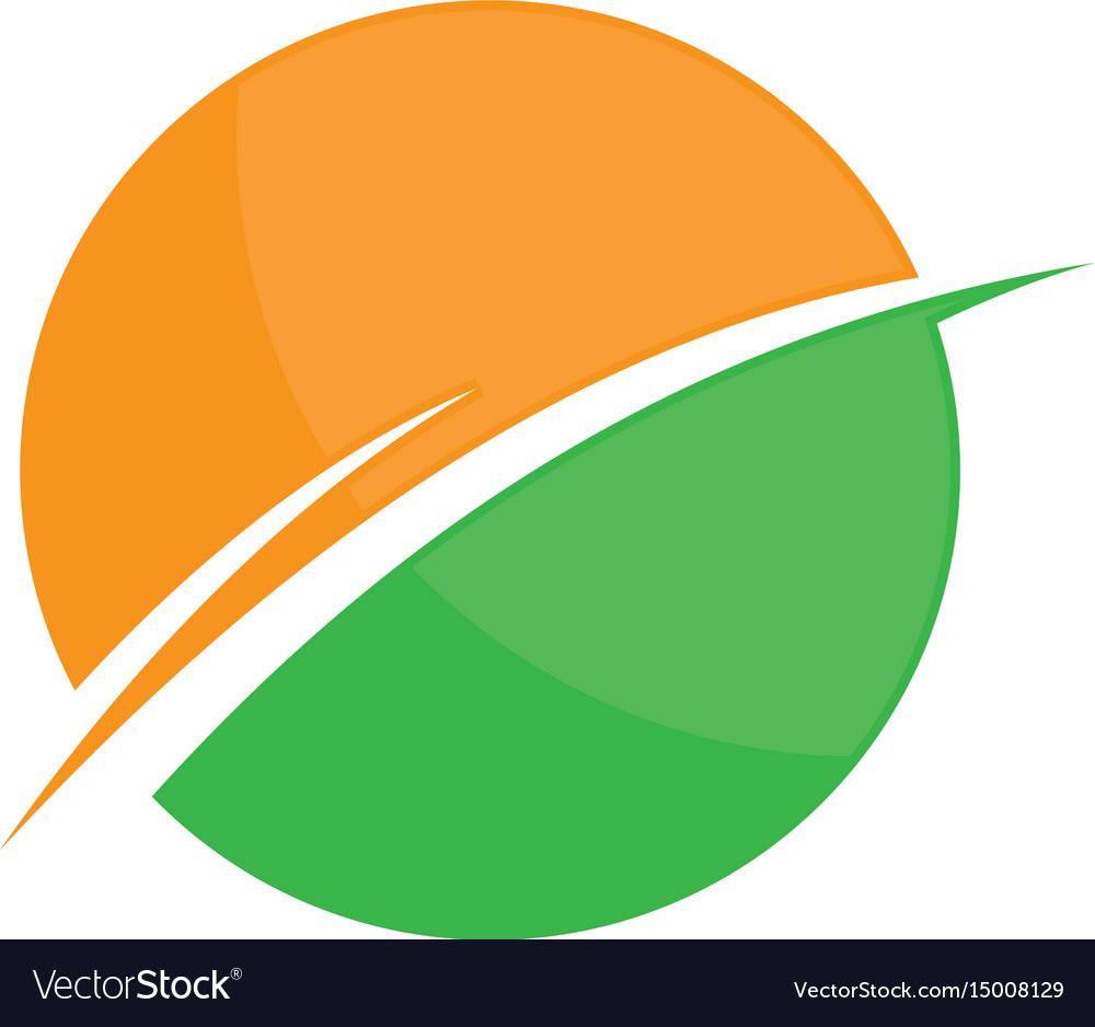 Round business finance arrow logo image