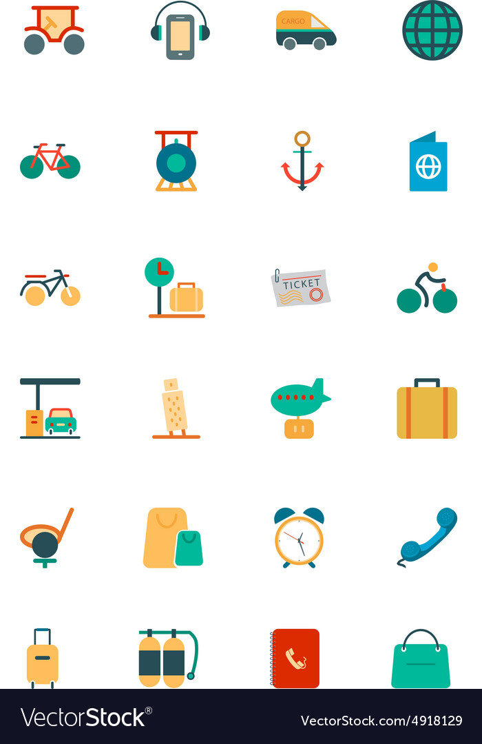 Travel Colored Icons 5