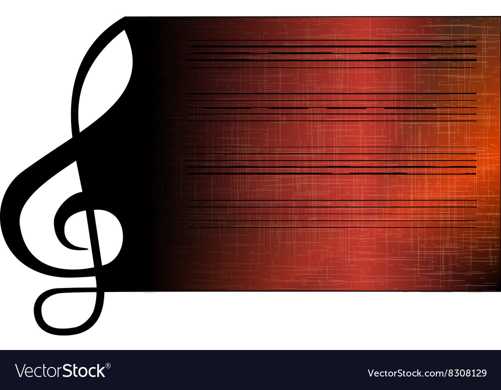 Treble clef stave vector image