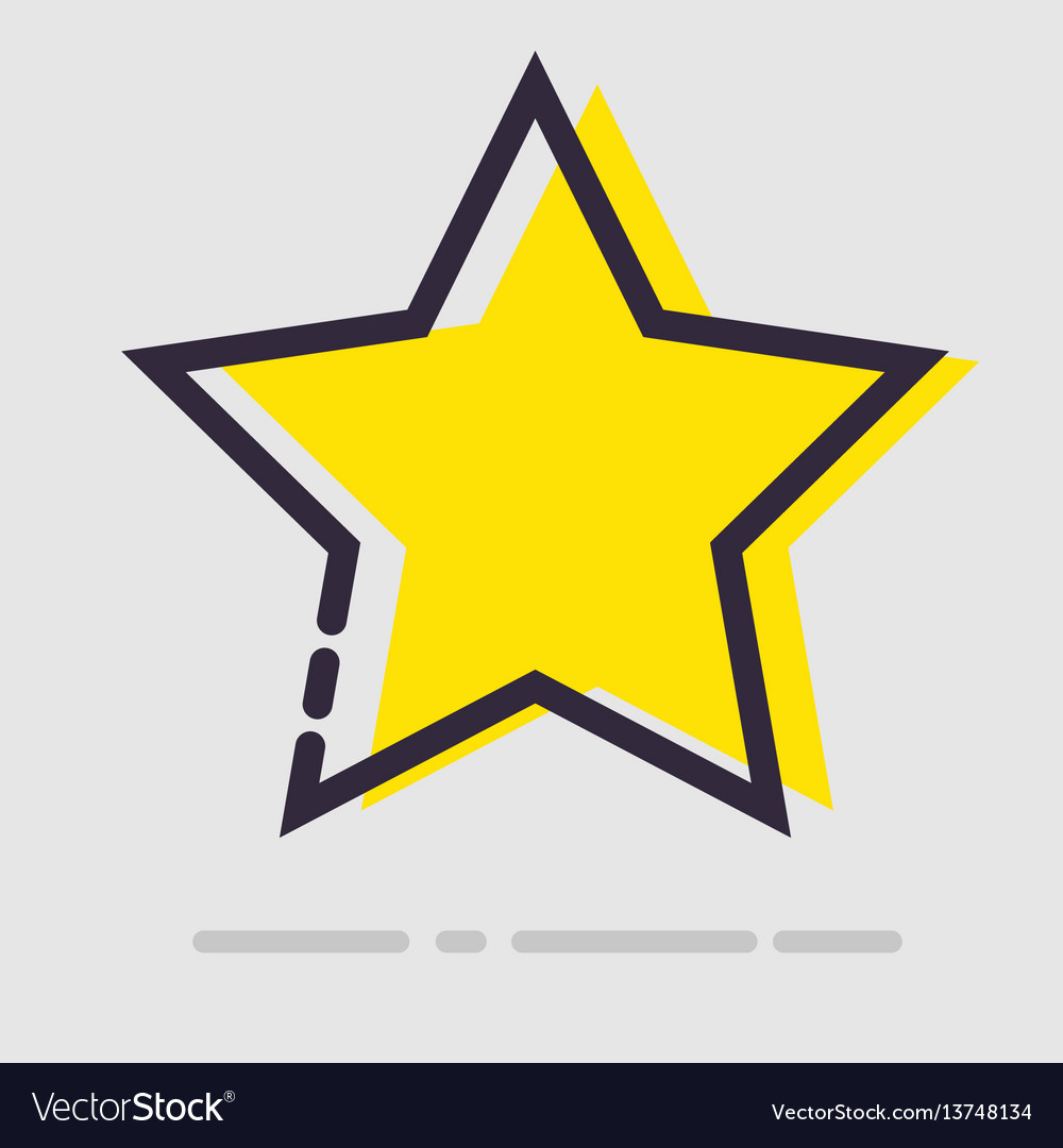 Abstract flat yellow star icon
