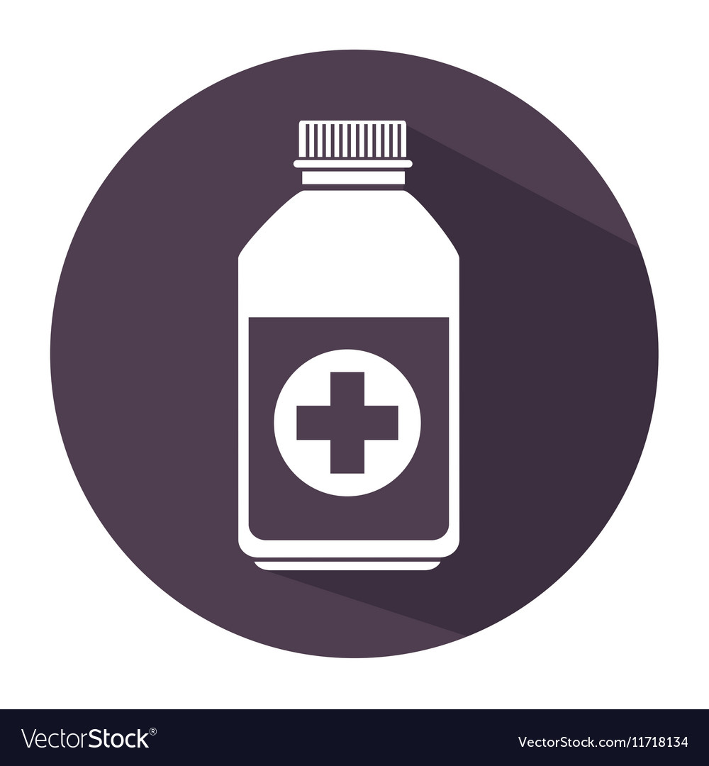 Bottle medicine care icon