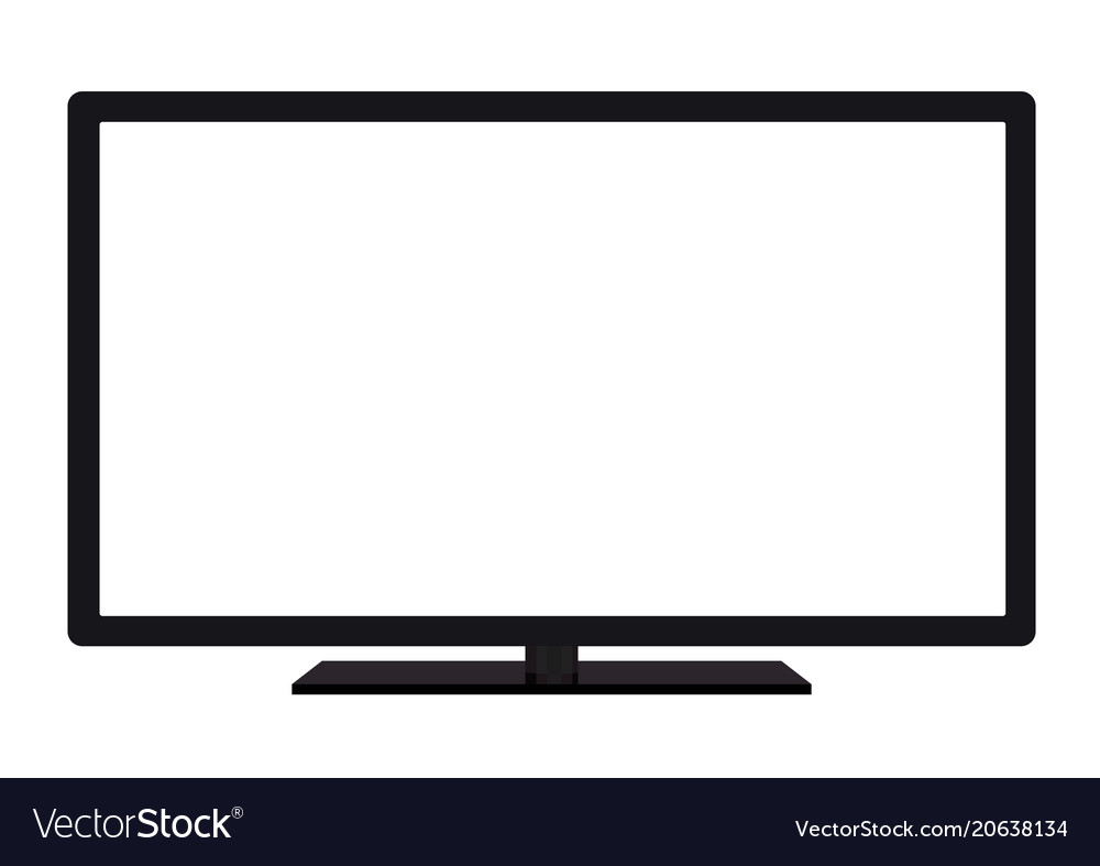 Isolated oled black flat smart wide tv vector image