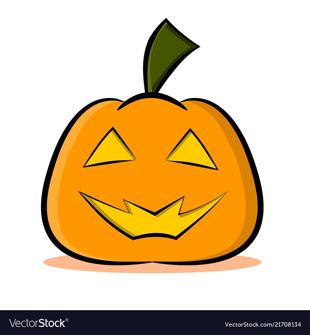 Jack O Lantern Pumpkin Face Royalty Free Vector Image