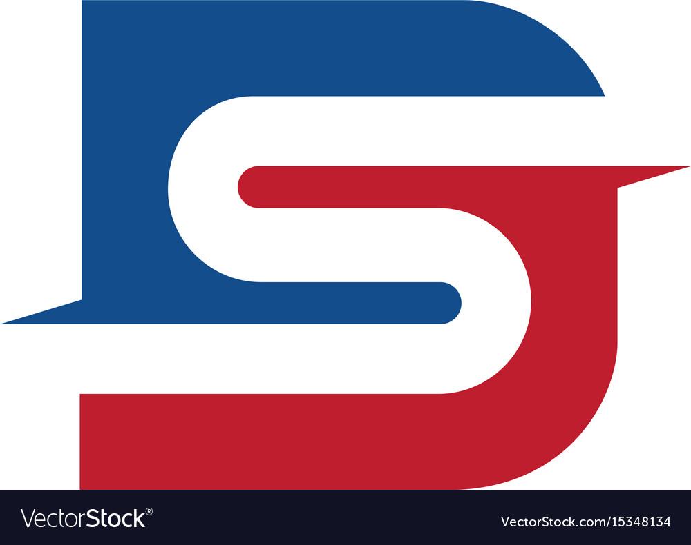 Letter ds business logo design