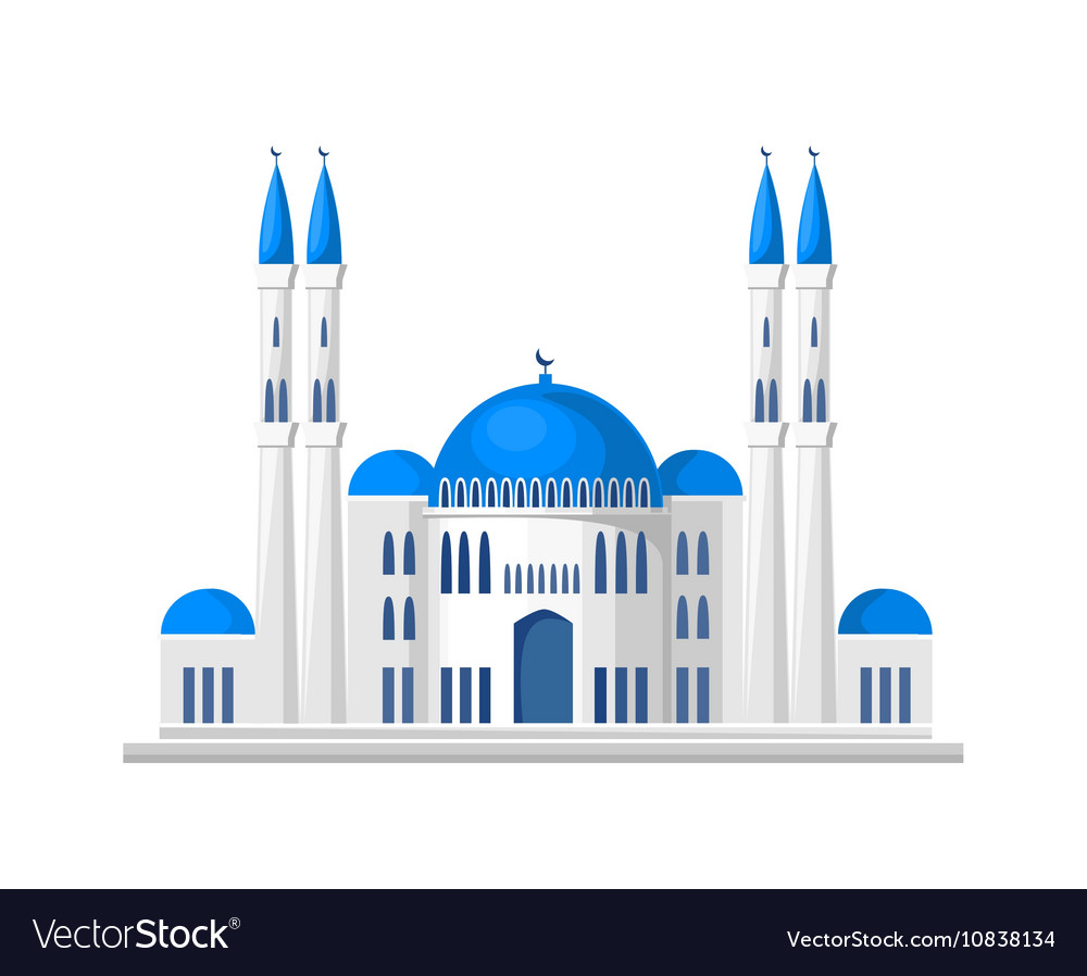 Muslim mosque icon isolated on white background