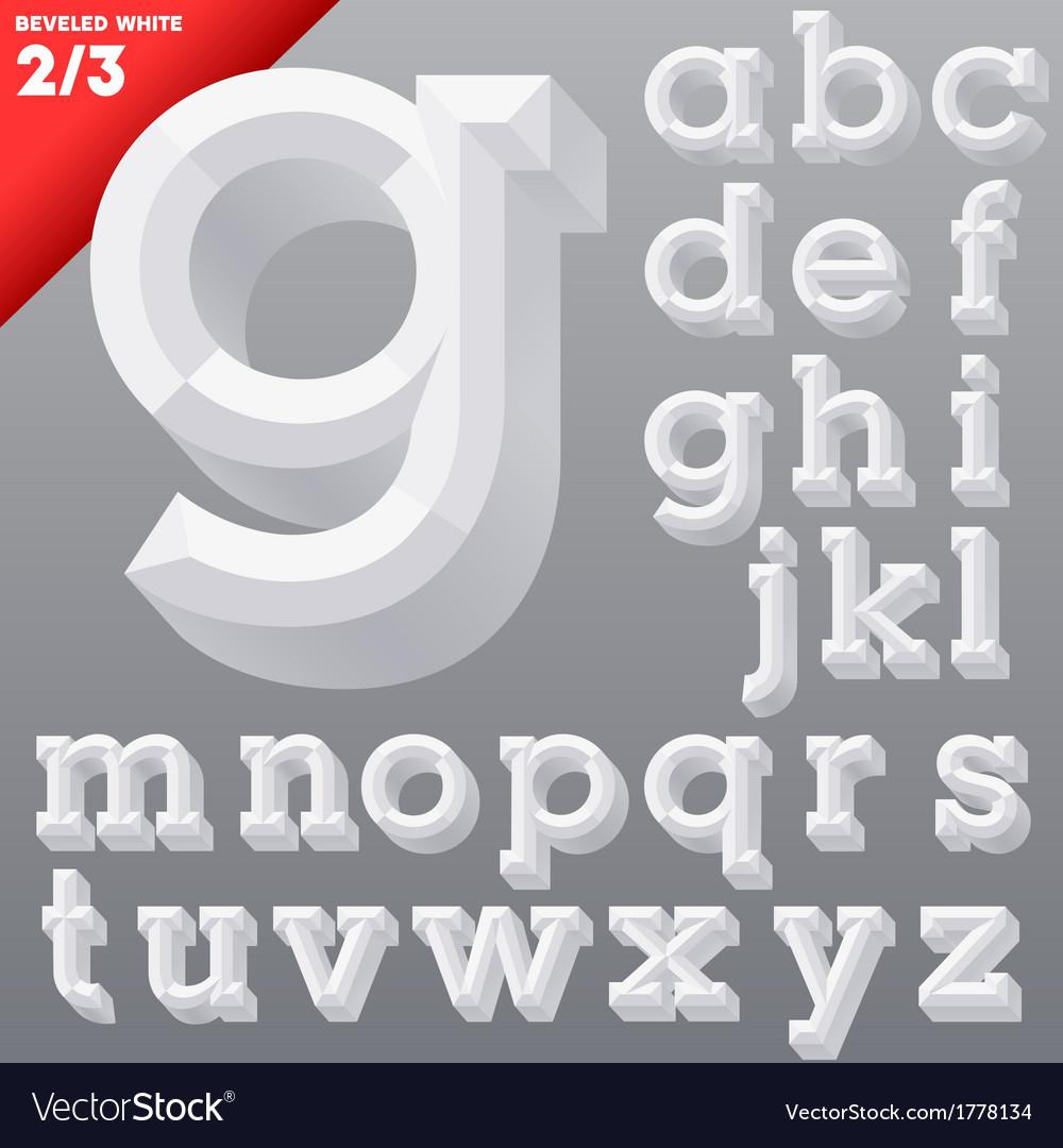 Old school beveled alphabet