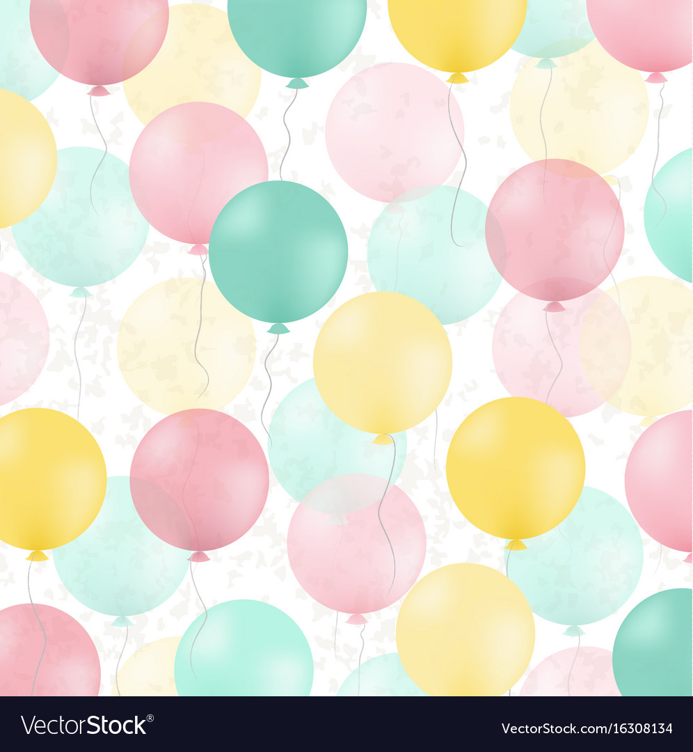 Postcard with colorful balloons