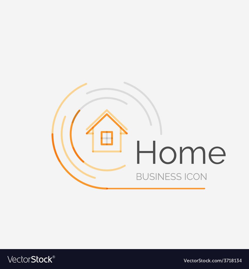 Thin Line Neat Design Logo Home Idea