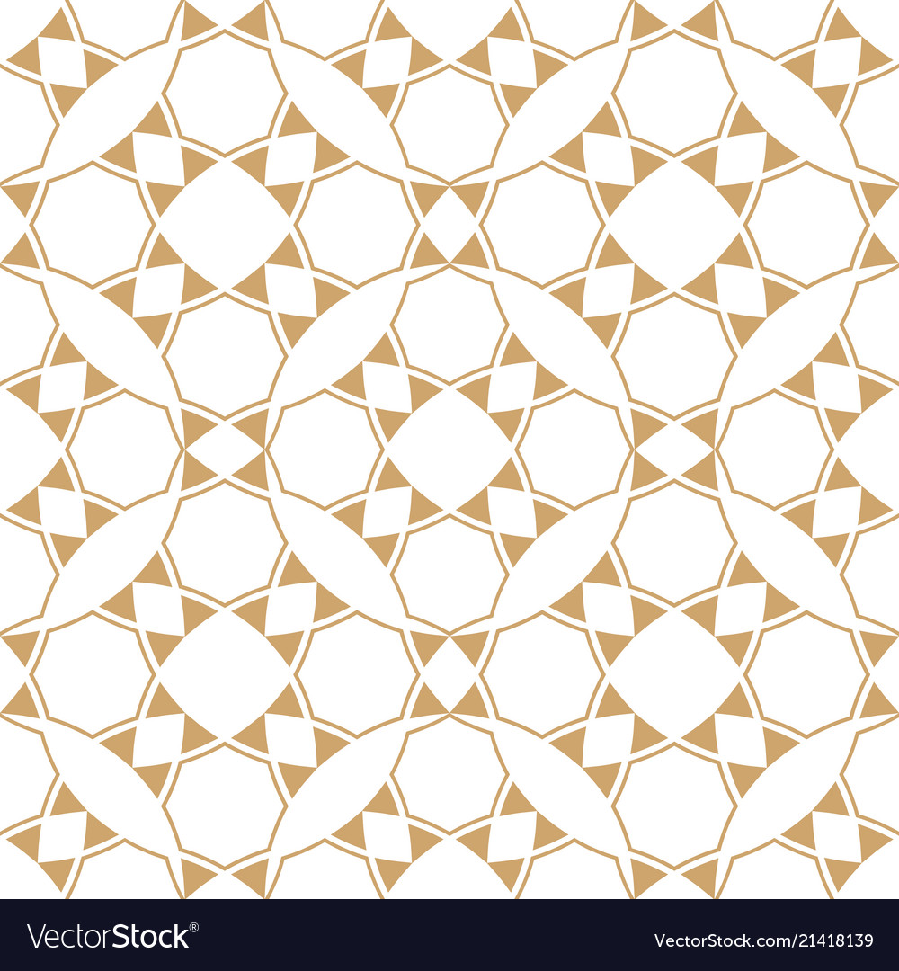 Abstract geometric ethnic patterngold and white