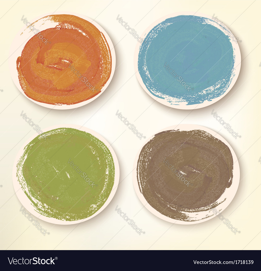 Colorful sticker icons vector image