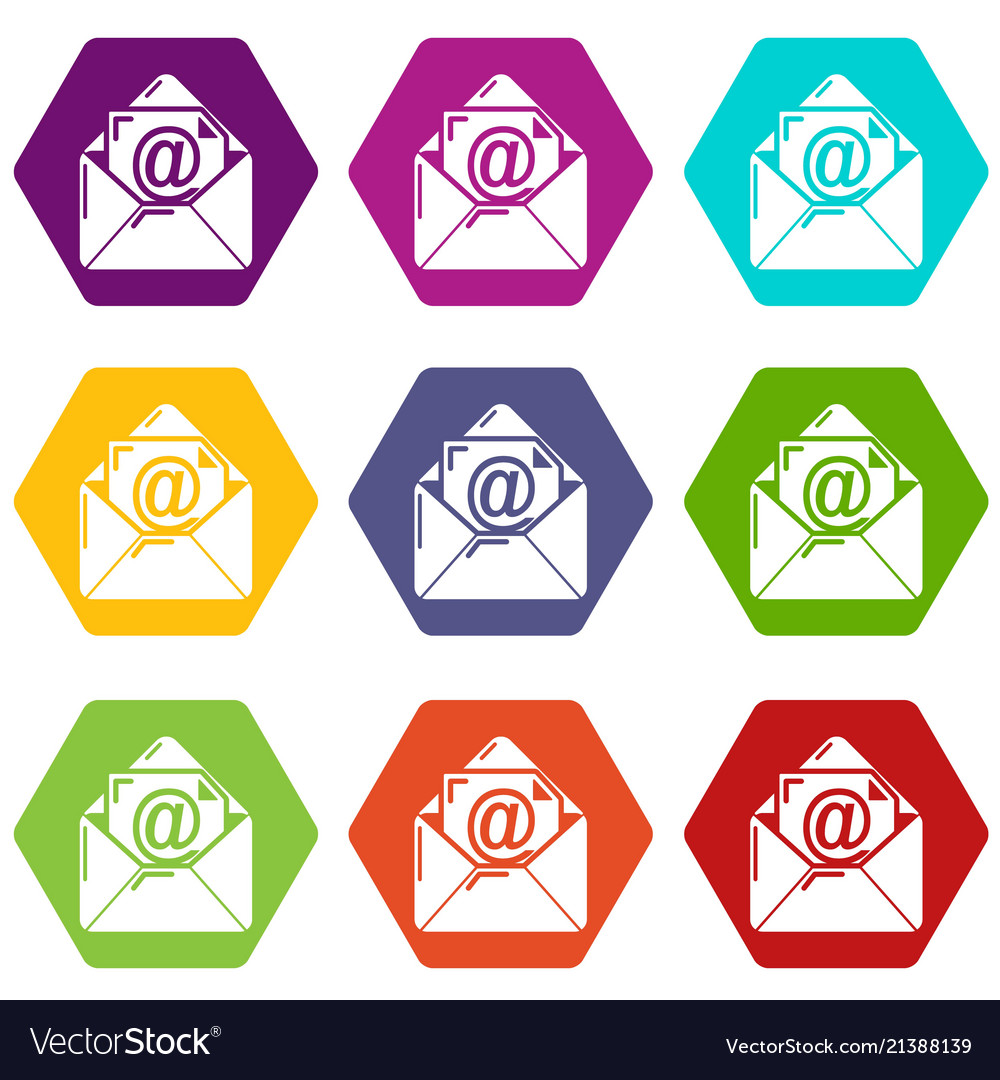 Email icons set 9