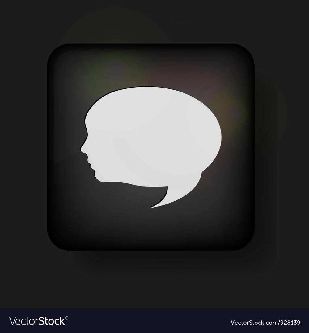 Face Speech Bubble Icon vector image