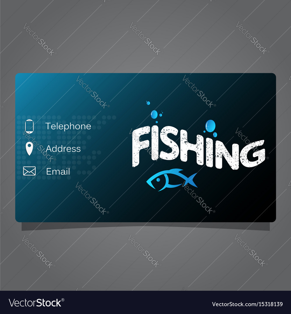 Fishing business card Royalty Free Vector Image