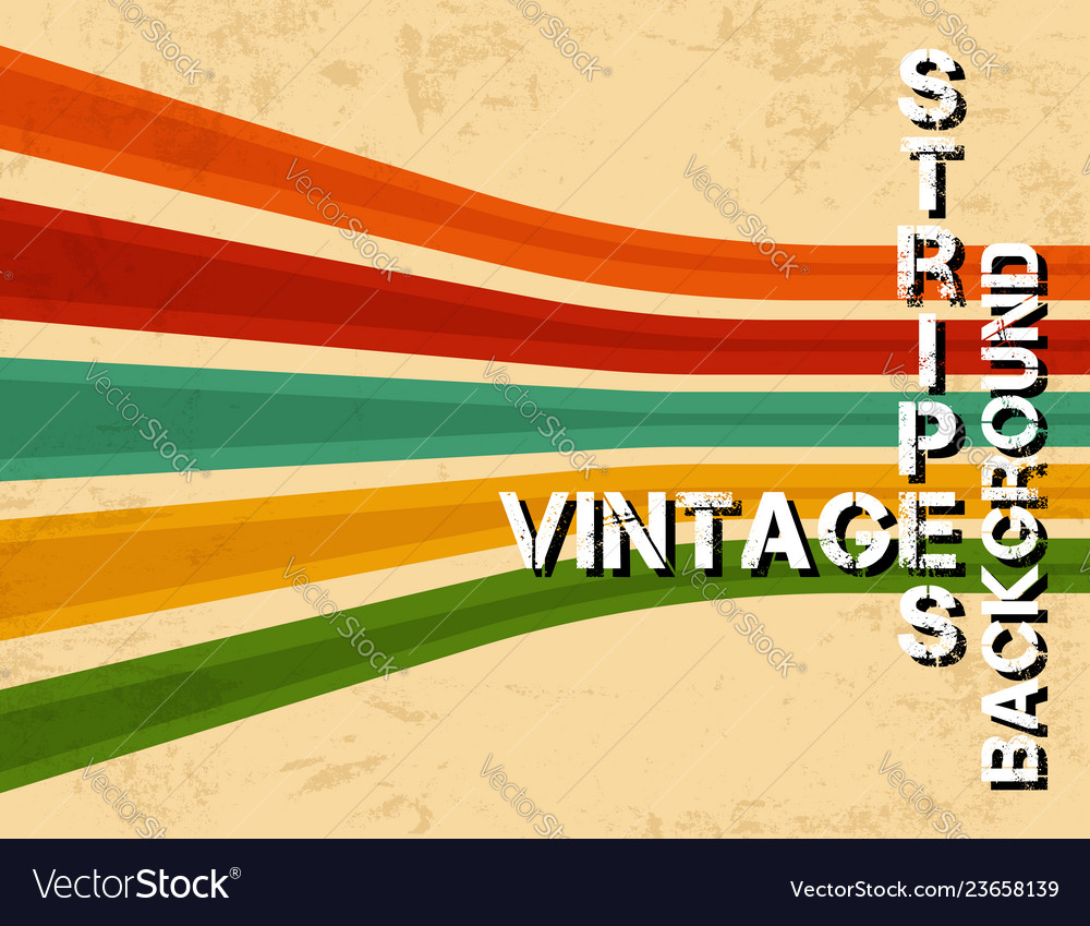Grunge vintage background with colorful stripes