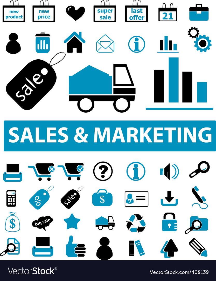 Sales marketing signs vector image