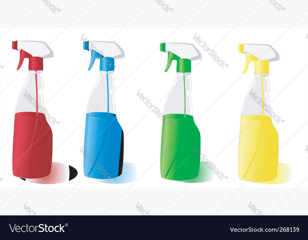 Spray bottles vector image