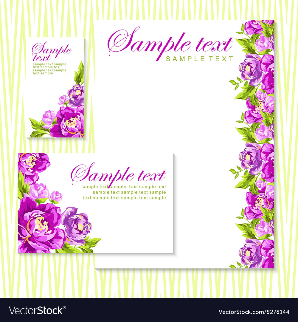 Card with pink peonies