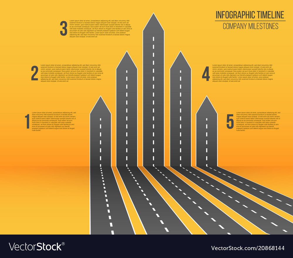Creative of 3d arrow roads map