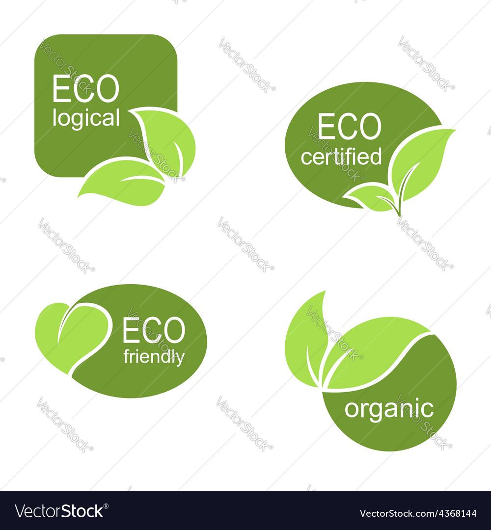 Ecological frames and labels set Royalty Free Vector Image