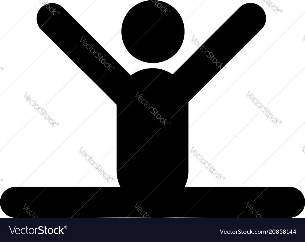 Man on the twine icon vector image