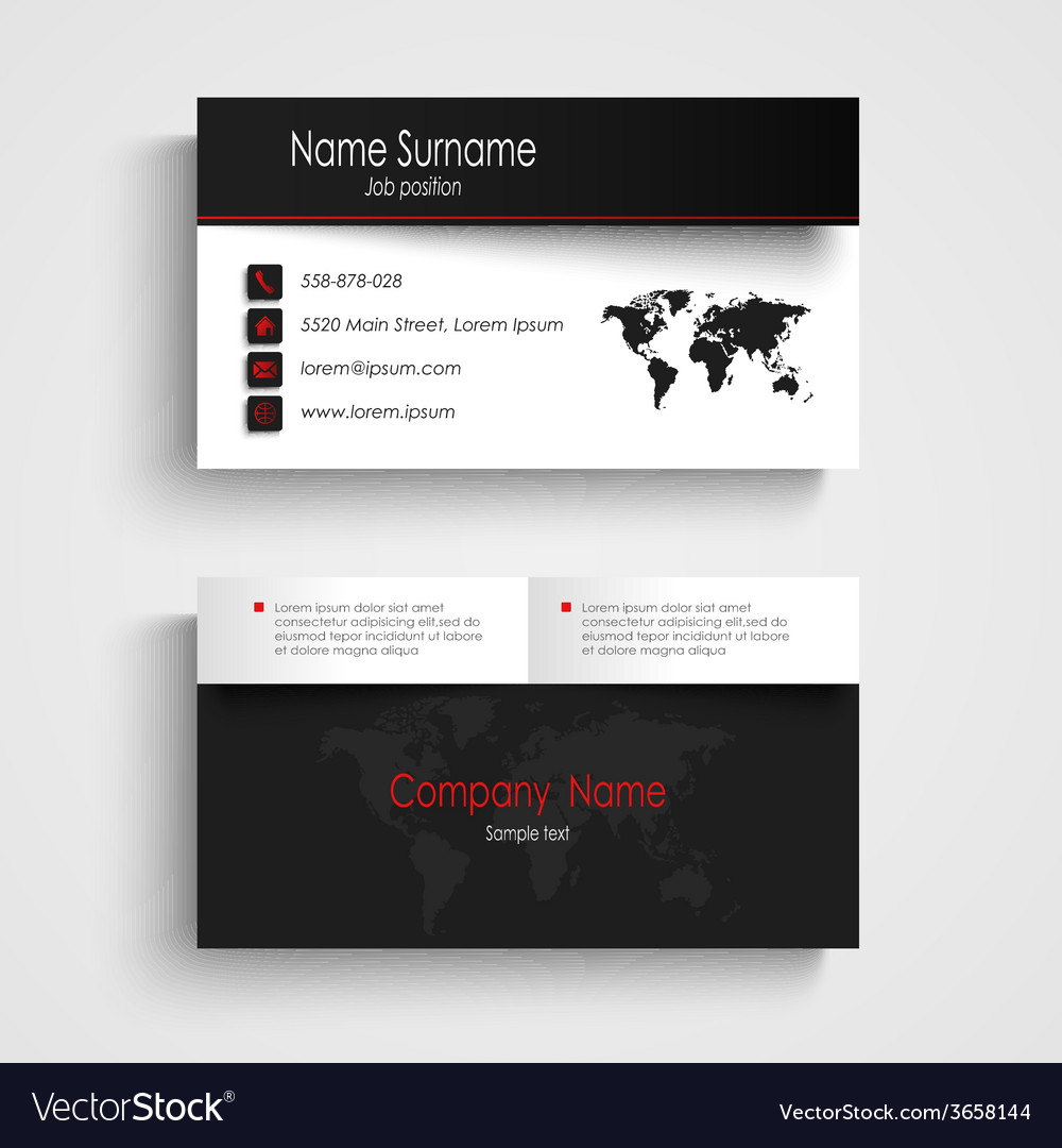 black and white business cards templates free