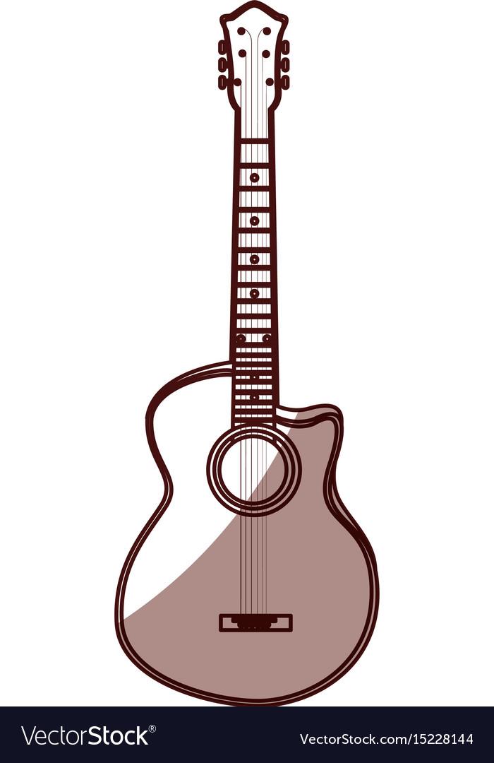 Shadow guitar cartoon