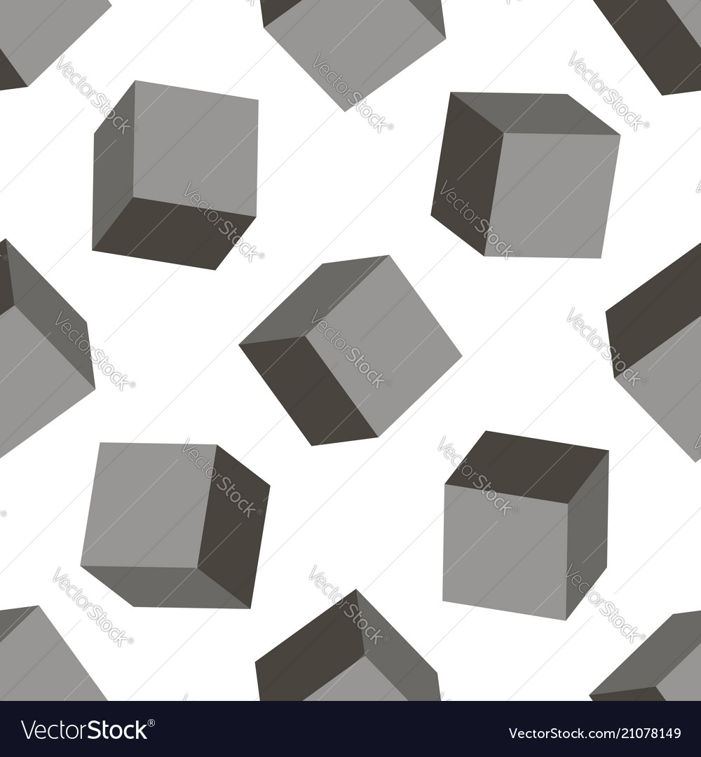 3d box background seamless squares