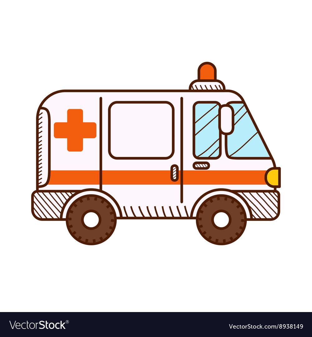 Ambulance car isolated on white background