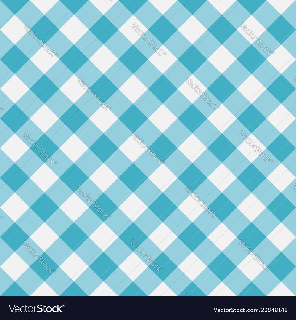 Blue gingham seamless pattern