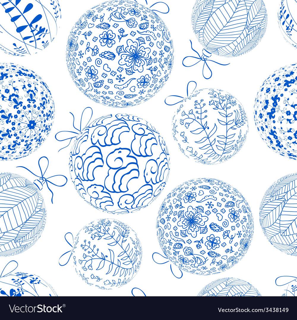 Christmas blue seamless pattern