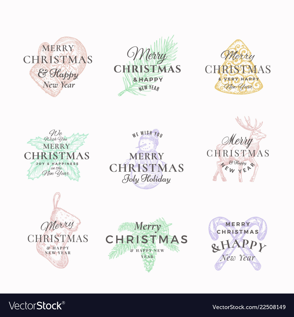 Classy merry christmas and happy new year abstract