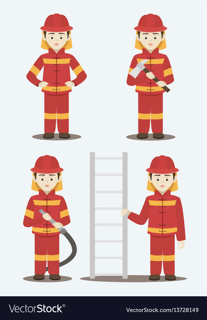 Fireman isolated