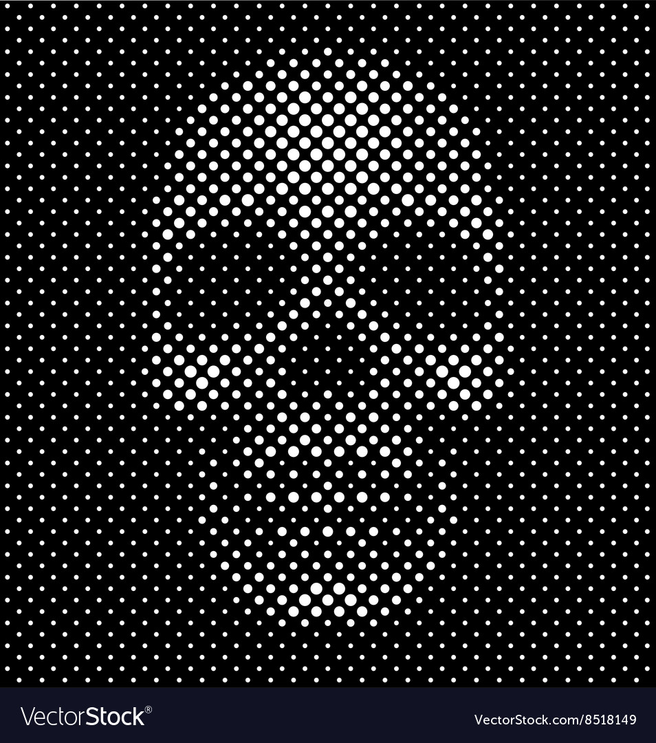 Halftone dot skull background vector image