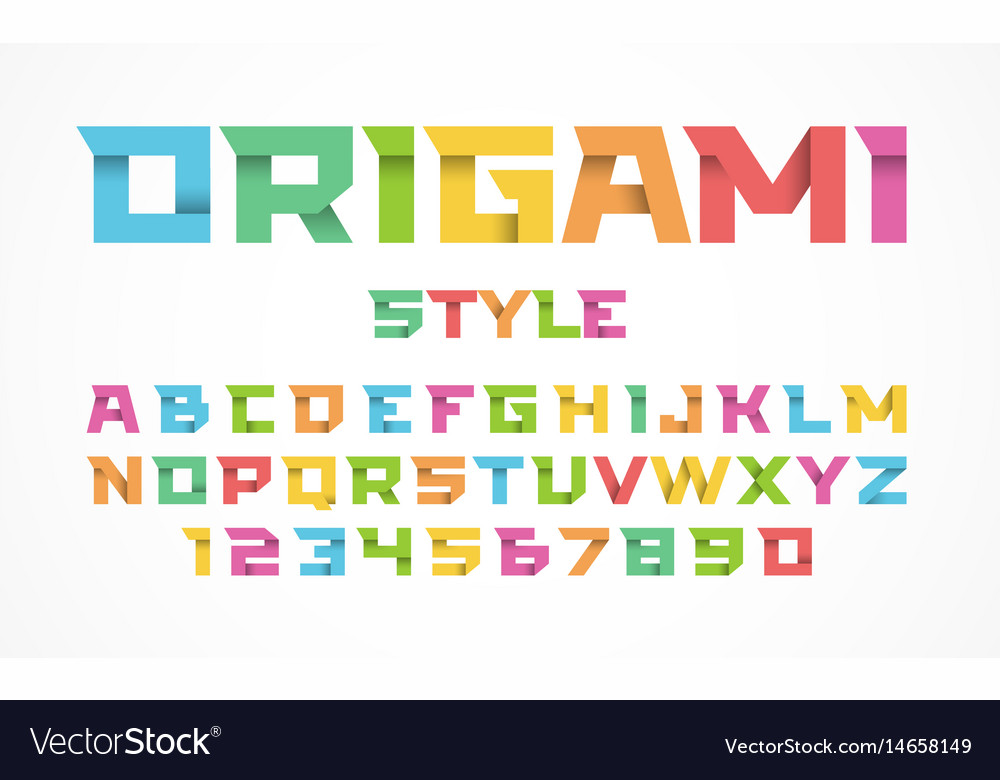Origami style font