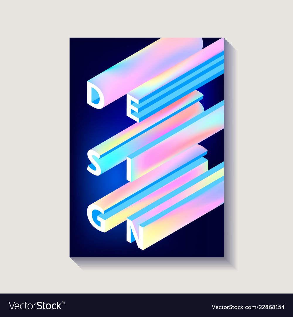 Creative design poster with gradient word